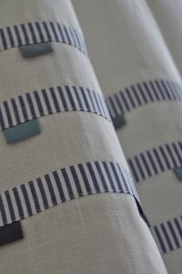 white&blue curtains
