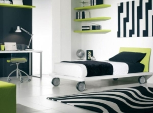 modern green boys rooms ideas