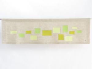 Boy girl modern yellow green straight valance